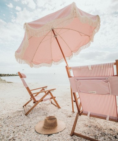 Premium Beach Umbrella - Laurens Pink Stripe