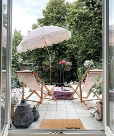 Sling Chair - Pink Stripe - Business & Pleasure