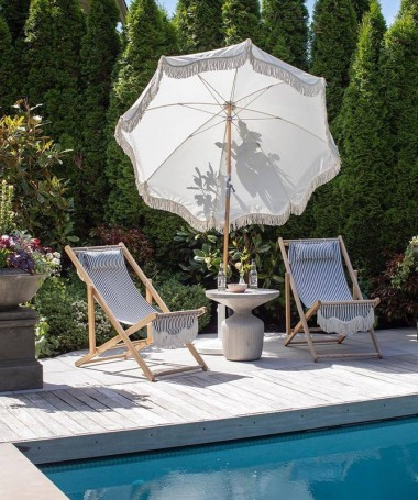 Sling Chair - Navy Stripe - Business & Pleasure