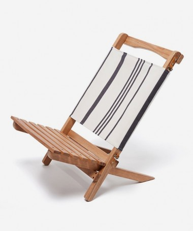Chaise Pliable - Black Stripe -