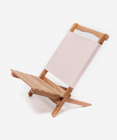 Chaise Pliable - Pink Stripe -