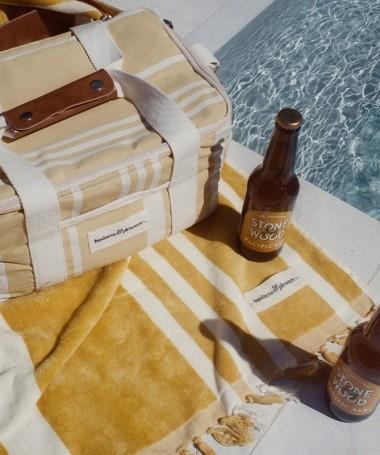 Cooler Bag - Vintage Yellow Stripe -