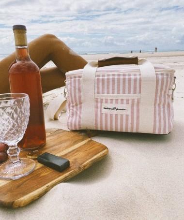 Cooler Bag - Pink Stripe -