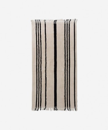 Beach Towel - Vintage Black Stipe