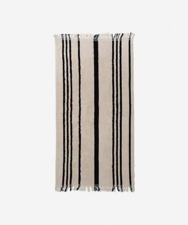 Beach Towel - Vintage Black Stipe